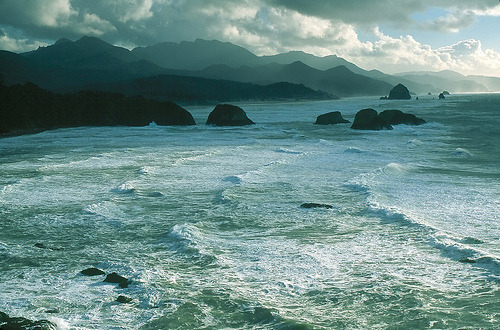 Oregon Ocean (by Laura A Knauth)