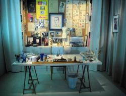 Compare and contrast two studios.  Here is Yves Saint Laurent's lovely studio.