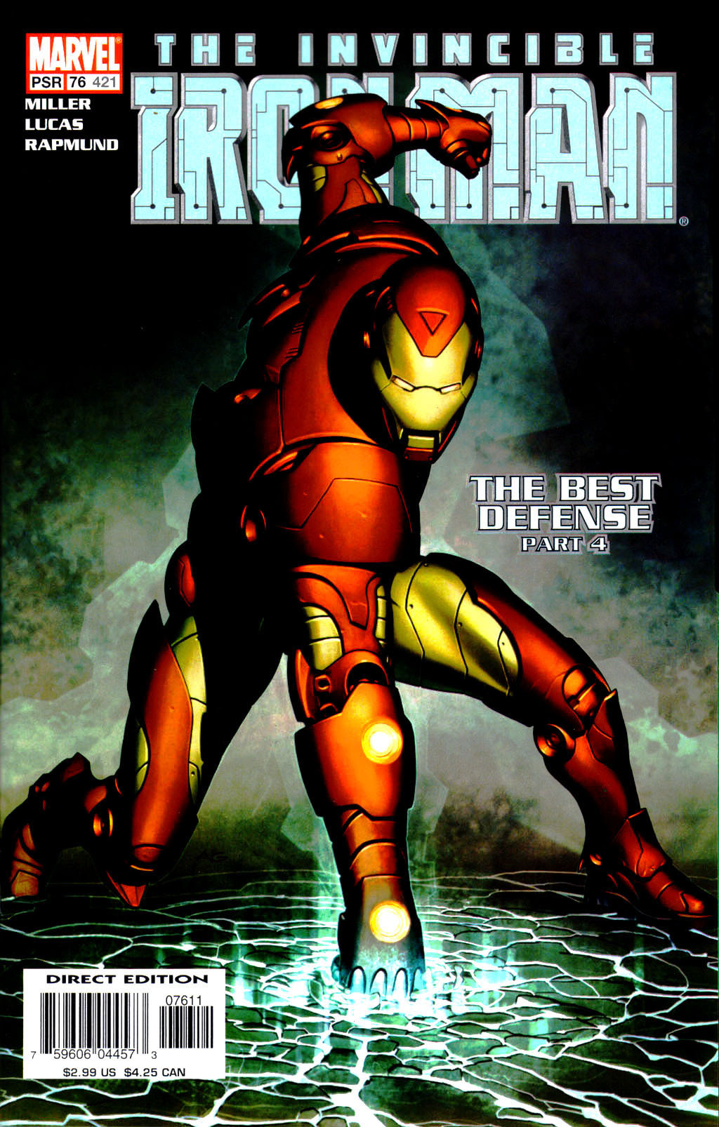 comicbookcovers:  Iron Man #76, March 2004, cover by Adi Granov