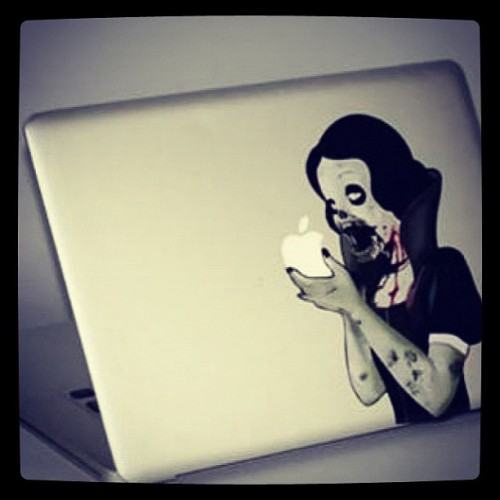 Crazy Mac book skin (Taken with instagram)