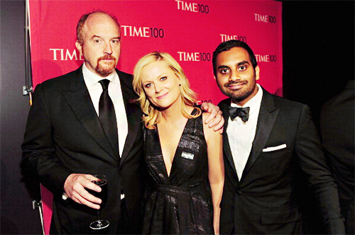 Louis C.K., Amy Poehler, and Aziz Ansari at the Time 100 Gala - April 24, 2012