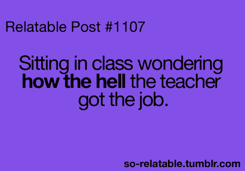 Exactly , Especially At My School -.-