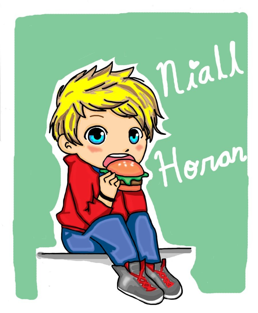 Niall Horan by ~VassHappenin Why is he eating a hamburger?!!!! The poor cow. I hope it is a turkey burger.
