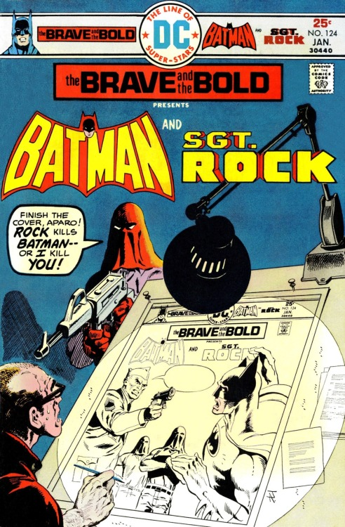 twentypercentcooler:  Yo dogg, I heard you liked Jim Aparo comics, so I had Jim Aparo draw some Jim Aparo in your comics so you could look at Aparo while you look at Aparo.  You were right, dawg.