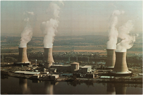 blech:  Three Mile Island, circa 1980, from Postcards of Mushroom Clouds at Slate.