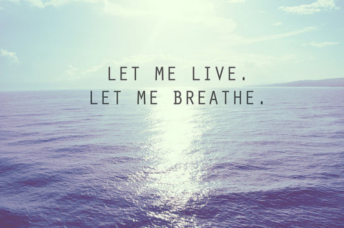 thisimperfectlybeautifullife:  Live and breathe.