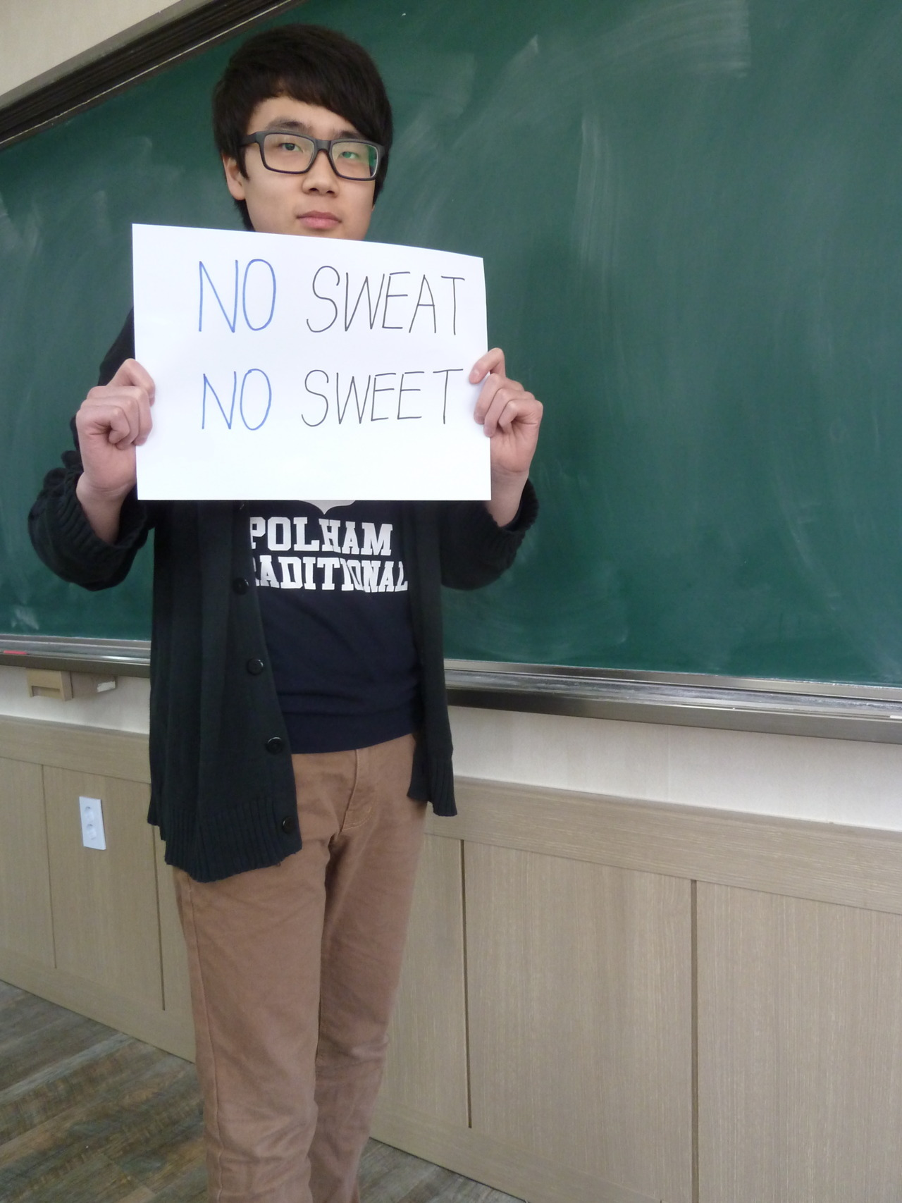 NO SWEAT  NO SWEET