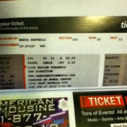 @morgansgee WE GOT OUR ONE DIRECTION TICKETS!!!!!!!!! Yayyyyyyy!!!!!!!!! #onedirection #1D2012 #soexcited #yeee #onedirection2012 :D (Taken with instagram)