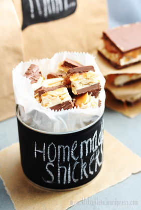 homemade snickers.