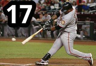 Pablo Sandoval moves it to a 17-Game Hit Streak. Atta boy, Papi