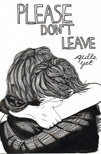 1000drawings:  don't leave (by Lily Livingston)