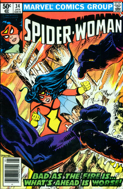 Spider Woman #34, January 1981, cover by Steve Leialoha