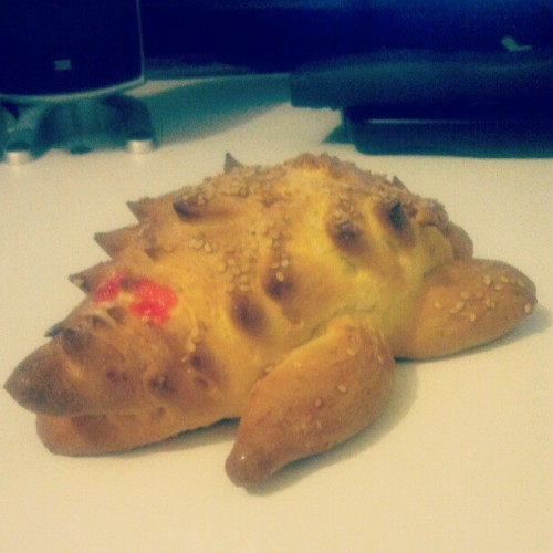 This amazing piece of #bread, #turtle bread!!! (Tomada con instagram)