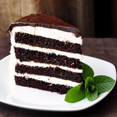 midnight mint chocolate cake.