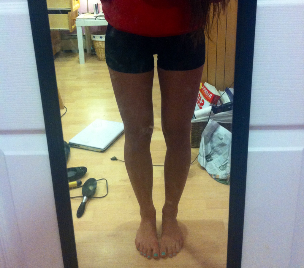 my-body-not-yours:  So, I used to be really insecure about my legs. I always thought they were too short and just so unattractive. But I love how on tumblr, everyone tries to appreciate and love their body, so i've learned to accept my insecurities and look over them! It's wonderful being as positive as possible :)