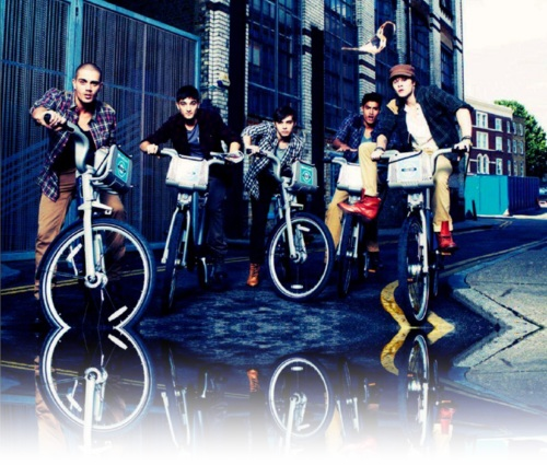 Look at their bikes! LOL