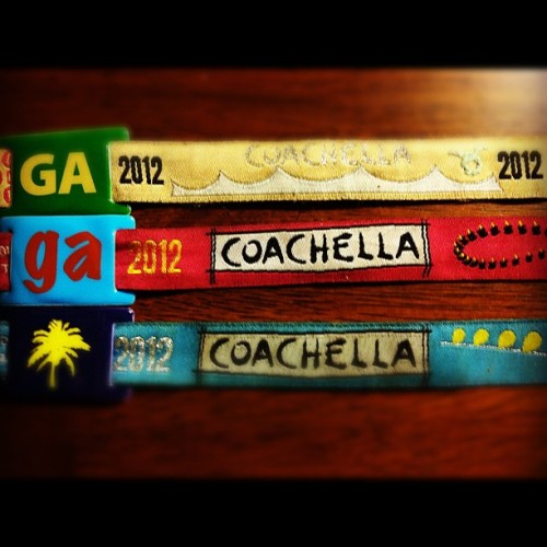Weekend 1, Weekend 2, and Backstage Access Coachella Wristbands, #YOLO (Taken with instagram)