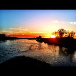 Platte River #platteriver #nebraska #sunset (Taken with instagram)
