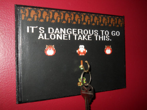 sogeekchic:  It's Dangerous to go Alone (without your house key)! Key hanger ($10) available from Jazzeape