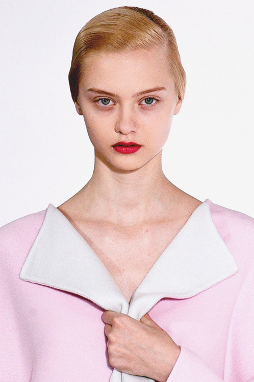 nastya kusakina at jil sander, fall 2012