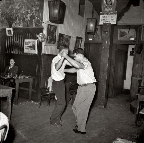 oldsparky:  Two guys take the last dance in 1941, San Francisco.