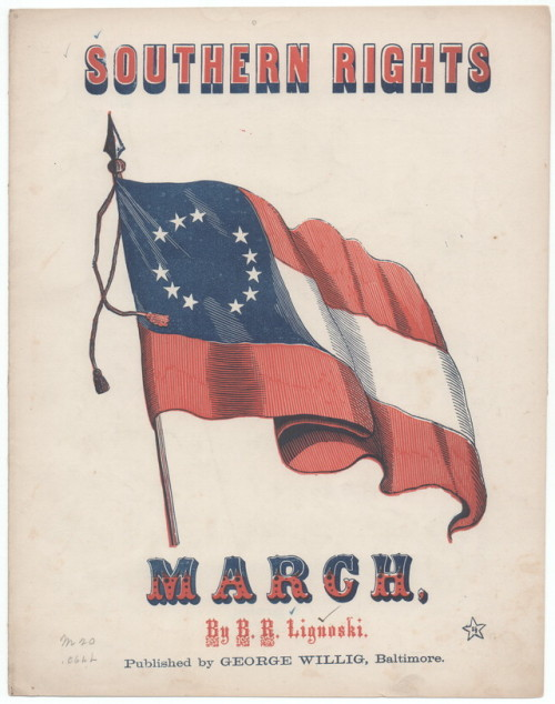 Southern Rights March sheet music cover archived by LOC