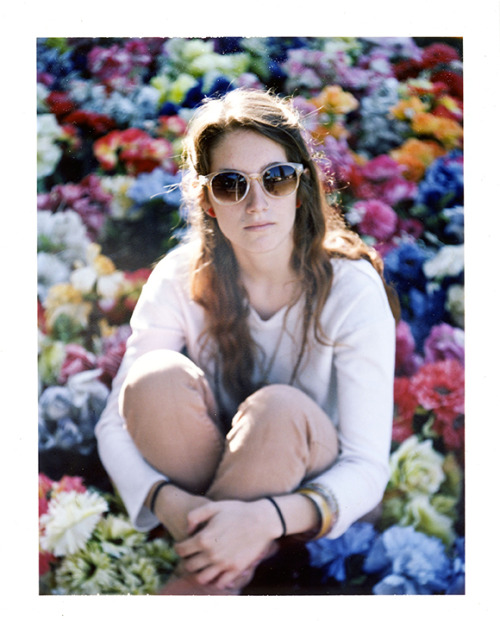 Polaroid of Sami in a bubble gum field! lol check out her work at www.samanthaharthoorn.com Ari Gabel ©