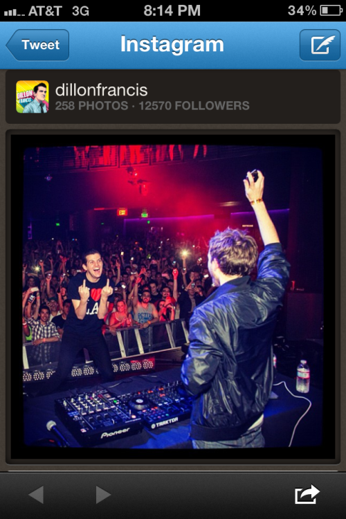 I didnt know zedd djs with his sync button on ! :$