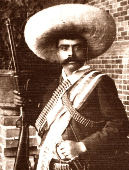 "fuckyeahhistorycrushes:  Emiliano Zapata Mexican Revolution badass. Just look at that mustache. Perhaps most famous for the words ""It is better to die on your feet than live on your knees."""