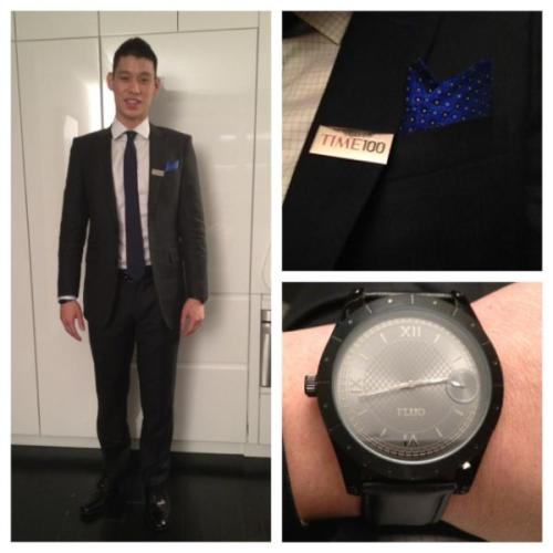 S/O to @BlackLapelCC for styling my suit for the Time 100 event tonight…still in awe at all the cool people i met! - @JLin7 - Jeremy Lin