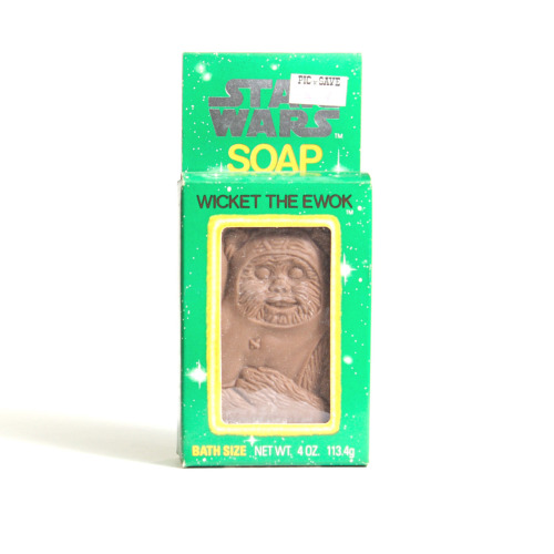 Vintage Star Wars Wicket the Ewok Soap by Omni Cosmetics, 1983.