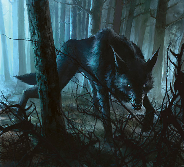 Black Wolf Token - Deathtouch 1/1