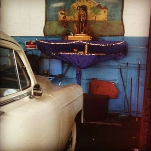 54 Chevy, an offering to San LazaroTaken at a mechanic's shop on Calle Ocho in Little Havana CubanaAmericana ©2011 Miami, Florida