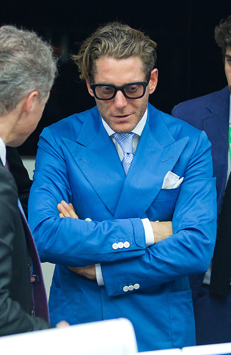 Lapo and his lapels. Nice cuff detail also.