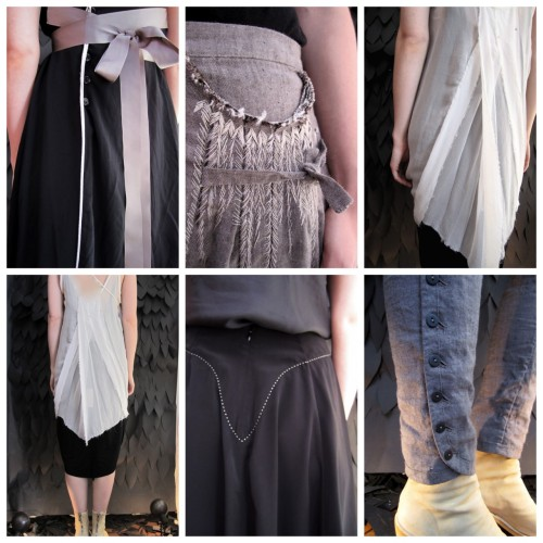 DIY Clothing Detail Inspiration. From UMIT UNAL spring summer 2012. From one of my favorite sites for clothing inspiration: Worthwhile here.