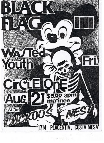 nocontxt:  old school Black Flag Flyer by Raymond Pettibon