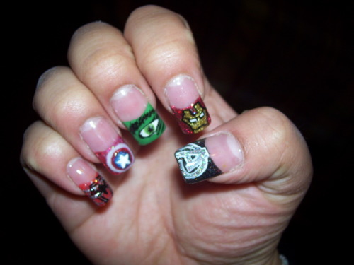 christinacandy:  Avengers nails! #OhYeah