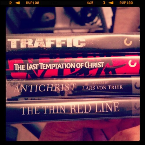 Our school library is the fucking best. All bluray too :> (Taken with instagram)