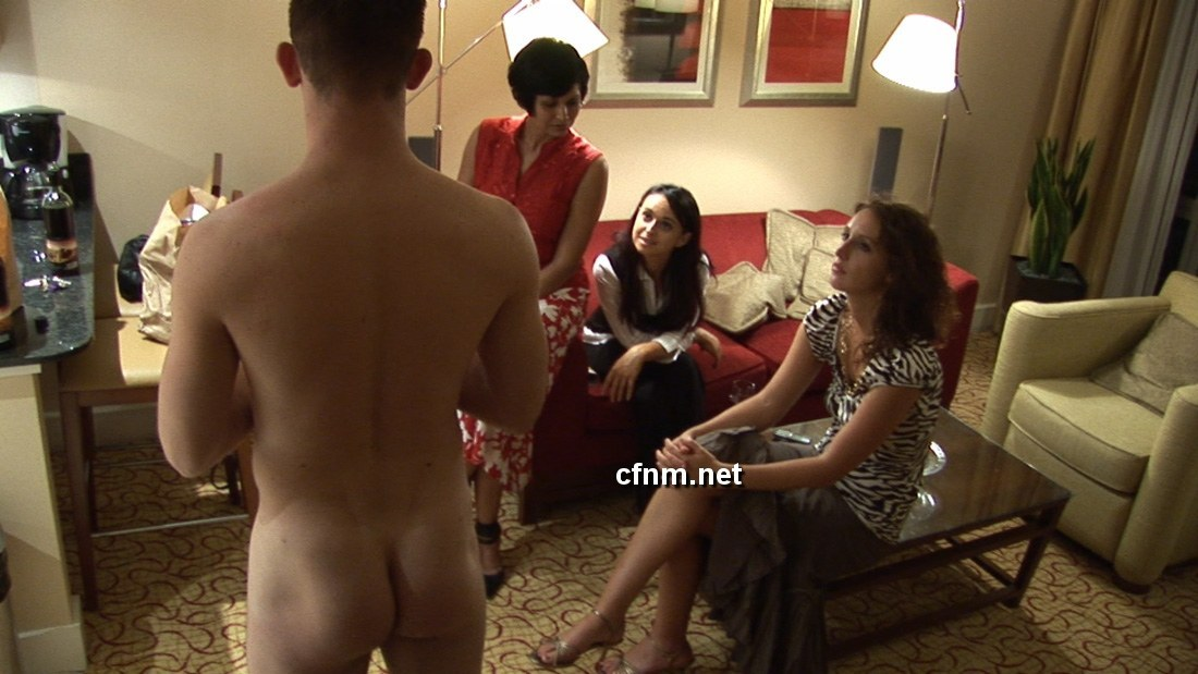 sexykinkybeauty:  It's her turn for girls' night at her apartment: She often has her husband naked at home, and sometimes she invites friends over for coffee or glasses of wine to sit around and enjoy being served by a naked man. He's her bitch. The ladies love it. The future is female.