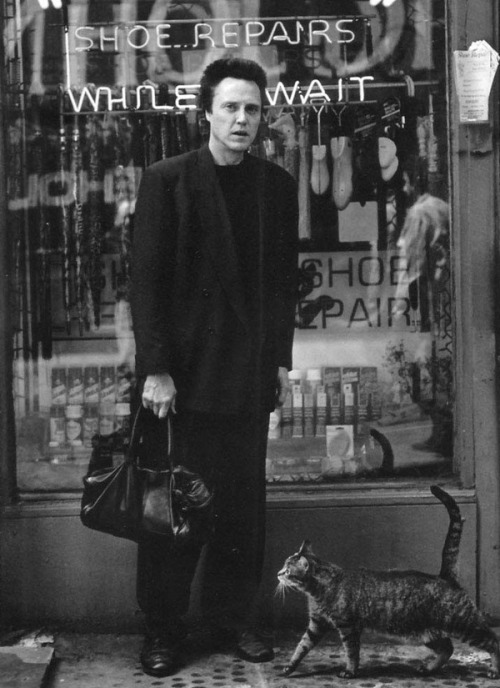 Christopher Walken and cat.