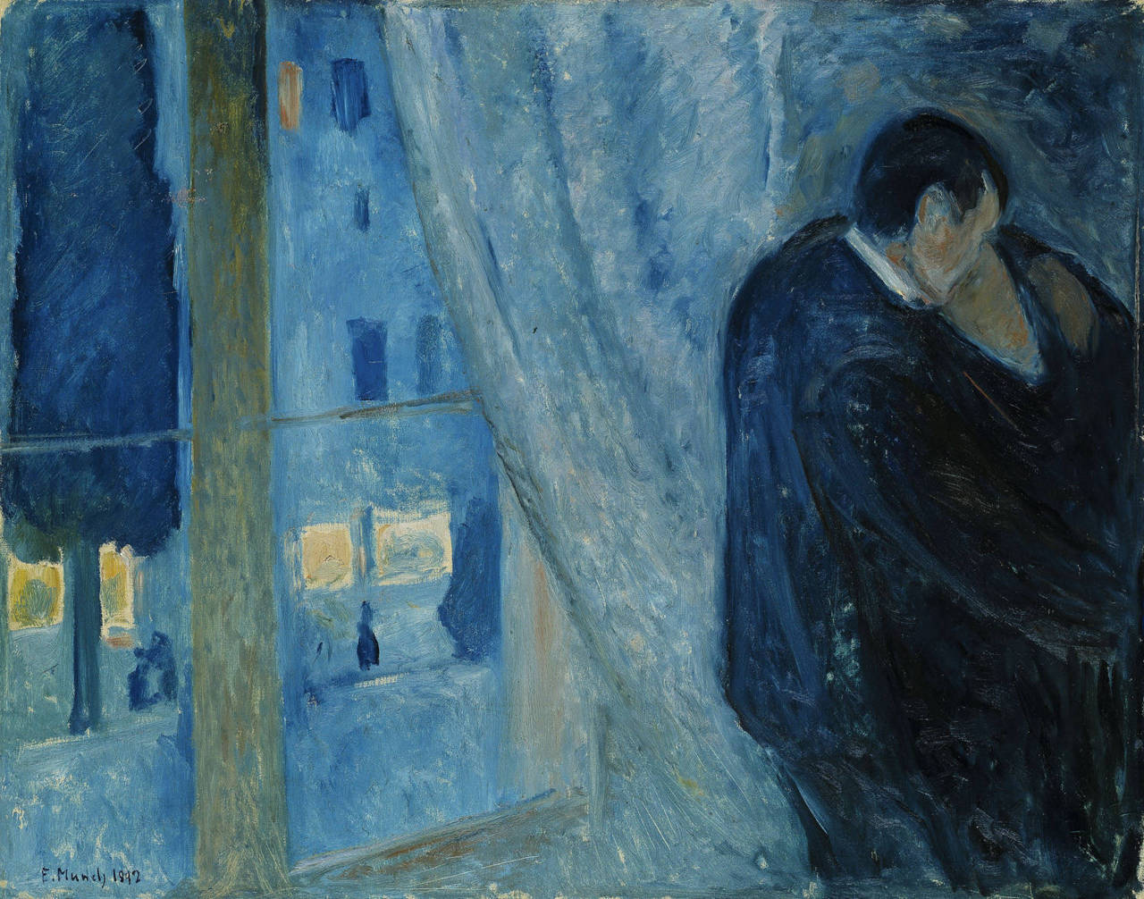Edvard Munch - Kiss by the Window, 1892. Oil on canvas