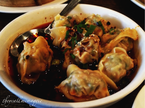 Chilli oil wontons @ HuTong. Geez I seem to eat these a lot don't I??
