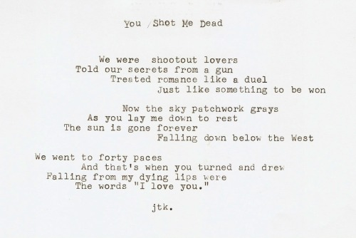"""You Shot Me Dead"" by Jordan Kit"