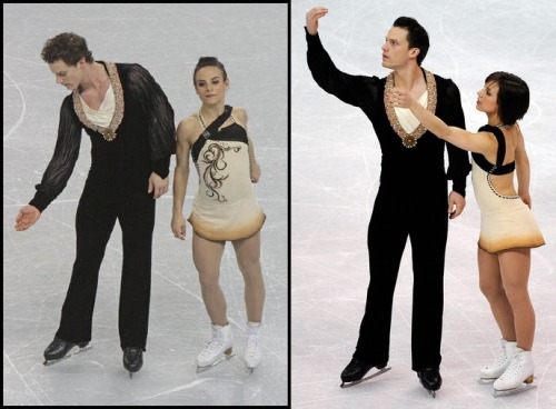 Meagan Duhamel and Craig Buntin's Tosca costumes at the 2009 Four Continents and World Championships. Photos by David W. Carmichael and Kevork Djansezian. Sources: http://davecskatingphoto.com/photos/20094CC/pairs/IMG_0463a.jpg http://www.zimbio.com/photos/Meagan+Duhamel/ISU+World+Figure+Skating+Championships+Day/n-Tdcw08iu3