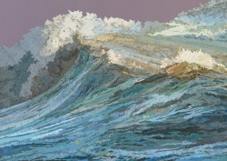 The Rachel's Wave, 2011Collages made out bits of Map by Matthew Cusick