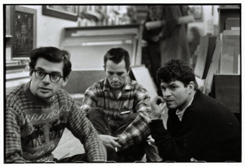 freetobefreee:  NEW YORK CITY—Allen Ginsberg, Jack Kerouac, and Gregory Corso in Greenwich Village, 1957. © Bruce Davidson / Magnum Photos