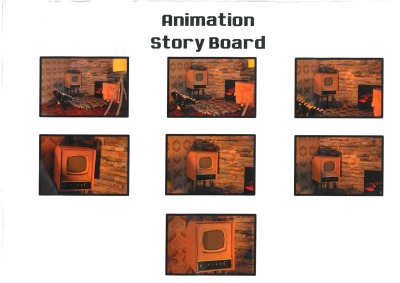 here is the animated story board for my animation. I used the actual set for my animation to do this, so this is what my actual animation should look like.