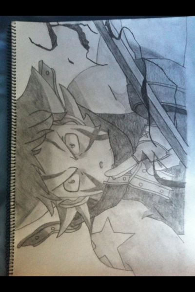 My drawing of Black star