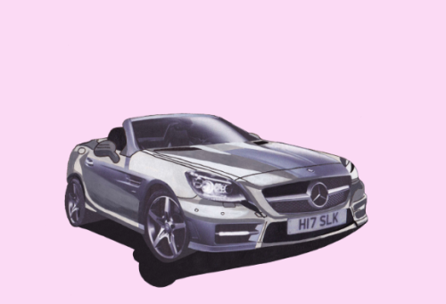 Mercedes Benz SLK Illustration