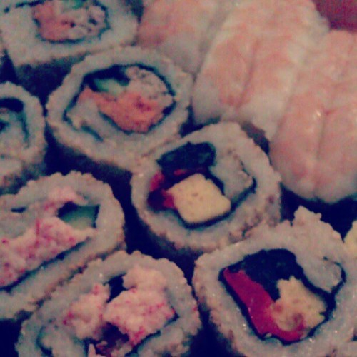 Mmmmm… Sushi…. Could do with this right now! #sushi #food #salmon @shrimp #tuna #tasty  (Taken with instagram)